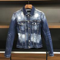 Stile europeo-americano 2020 Famoso camicia da uomo in denim da uomo in denim da uomo Giacca da uomo Directing Directing Motorcycle Jacket Jacket XD31