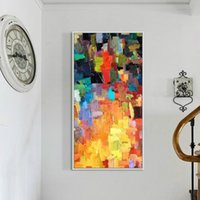 Multicolor Abstract Oil Painting on Canvas Fashion Wall Art ...