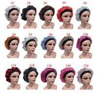 Großhandel Mode Gedruckt Frauen Dusche Kappen Vier Jahreszeit Winddicht Unisex Kuppelhut Damen Nachthut Friseurkappen Mütze