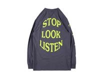 T-shirt da uomo T-shirt da uomo Designer T-shirt Europa Tour Hip Hop Rap T-shirt a manica lunga High Street Casual