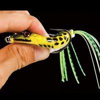 Lebensläufiger weicher Frosch Fischköder Weiche Kunststoff Köder Top Wasser Crankbait Minnow Popper Tackle Bass Snakehead Catcher Baits Set