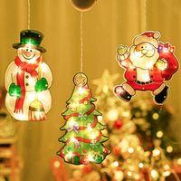 クリスマスサクションカップの飾り窓灯クリスマスモチーフ雰囲気シーンの壁ショーケースLED吸盤ランプぶら下げライトの装飾