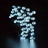 Yeni Tasarım Marka Yeni Beyaz 100 LED Güneş Dize Peri Işık Noel Partisi Su Geçirmez Tatil Aydınlatma Dizeleri Yüksek Kaliteli Malzeme