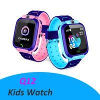 Q12 키즈 스마트 시계 LBS SOS Antil-Lost Smartwatch 아기 2G SIM 카드 클록 호출 위치 추적기 SmartWatch PK Q50 Q90