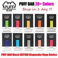 Bar Bar Edition noire Pré-remplie VAPE DISPOSITIF POST POD 280MAH 300 Puffs 20+ Couleurs E CIG Vaporisateur Kit