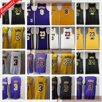 2020 финал ChampionPatch Passkeball 3 Anthony 23 Дэвис трикотажные изделия Новые черные дешевые белые желтые фиолетовые черные майки по баскетболу