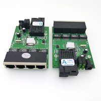 3 Pair FTTH Gigabit Faser Optical Media Converter 4 Port 1000 Mbit / s Single Mode Single Fibre SC 20km PCBA Ethernet Switch