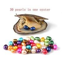 Oval Oyster Inci 6-7mm Mix 15 Renk Taze Su Doğal Inci Hediye DIY Gevşek Süslemeleri Vakum Paketleme Toptan WMTNMN Queen66