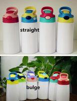 DIY التسامي 12oz زجاجة Watter بالتأكيد بهلوان مستقيم الفولاذ المقاوم للصدأ سيبي كوب 350 ملليلتر القش كؤوس نوعية جيدة للأطفال