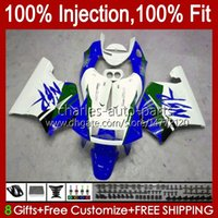 Inyección por HONDA NSR 250 250R MC28 94 95 96 97 98 99 102hc.152 Blue White NSR250R NSR250 R PGM4 1994 1995 1996 1997 1998 1999 Carnamentos