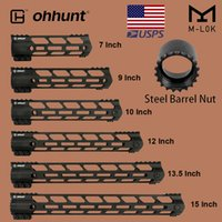 "ohunt Tactical M-Lok Rail HandGuard 7 ""9"" 10 ""12"" 13.5 ""15"" M Lok Free Float Guard Mano Picatinny Weaver Mount Steel Barrel Nut"