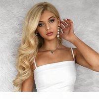 Mode 613 Perruques blondes pour femmes enracinées enracinées Honey Blonde Wigs UK Meilleur costume de perruque de cheveux humains Très naturel Voir les meilleures perruques bon marché