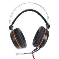 Vamery G601 Virtual 7.1 Cuffie RGB Colorful Surround Sound Effect Effetto cuffie Cuffie da gioco USB con microfono argento grigio spedizione veloce