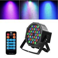 36W 36-LED RGB Remote / Auto / Sound Control DMX512 High Brightness Mini DJ Bar Party Stage Lamp light wit *4 High quality Par Lights