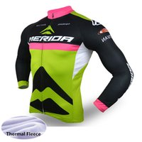 2019 Merida Winter Thermal Fleece Fleece Jersey Uomo Maniche lunghe Top Mountain Bike Shirt Bicicleta Maillot Ropa Ciclismo Hombre 122104Y