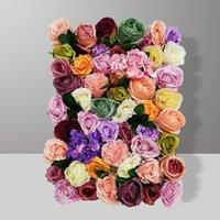 Dekorative Blumen Kränze 40x60cm Hohe Qualität Seide Rose Pfingstrose 3D Hochzeit Blume Wandtisch Läufer Bühnenkulisse Künstliches Mittelstück