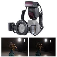 YONGNUO E-TTL Macro fotocamera Flash Flash Speedlite 5600K con 2 teste flash e anelli adattatore 4pcs per EOS 1DX 5D3 6D 7D 70D 80D