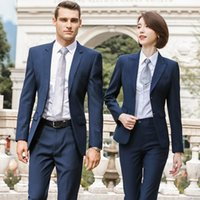 Femmes Pantalon de deux pièces Suit Banque Banque Ventes 4S Shop Boutique officielle Homme Immobilier Département des vêtements de travail personnalisés