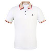 Мужские дизайнерские футболки пчелы Polo рубашки мода бренд летняя одежда с коротким рукавом роскошь футболка высокое качество деловые повседневные топы тройник M-3X