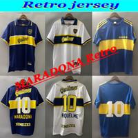 1981 95 96 1997 1998 1999 2000 2001 2002 2003 2004 99 99 Boca Juniors Retro Jerseys Roman Maradona Vintage Camisa de Futebol Clássico