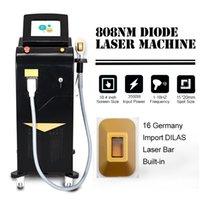Nuovo depilazione laser a diodi 808nm Depilazione 808nm Macchina per lunghezza d'onda Aereo Raffreddamento Aereo e rapido Ringiovanimento della pelle Depilazione indolore