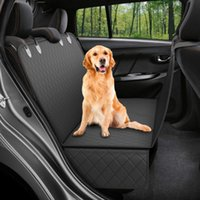 High Quality 137*147cm Black Waterproof 600D Oxford Car Back Seat Cover With Side Flaps For Dog Cat Pet