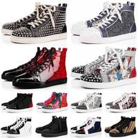 2020 Kırmızı Dipler Sneakers Rahat Ayakkabılar Erkek Bayan Düşük Yüksek Tasarımcı Flats Kaykay Loafer'lar Lüks Eğitmenler Ayakkabı