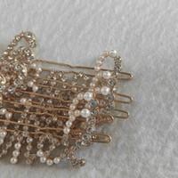 Металлические зажимы для волос C классические горный хрусталь жемчуг писем дизайн шпильки классические аксессуары для волос подарок