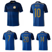 2014 Zabaleta Aguero Retro Jersey Di Maria Messi Lavezzi Argentina Gago Higuain Mascherano Vintage Camisa de Futebol Clássico