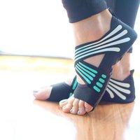 Ayak Bileği Desteği 1 Çift Kadın Kaymaz Spor Dans Pilates Çorap Profesyonel Kapalı Yoga Ayakkabı LDF668