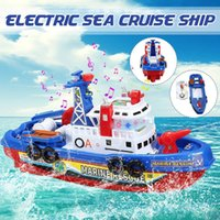 1set Toddler Baby Bath Toy Boat Squirts and Rides in Water Action Bath Time Squirting Rescue Ship Boys Gift without Battery 201016