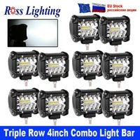 10 pz 4 pollici 60W TRI-Fiw LED Barra luminosa LED LED Light Light Tractor Boat Offroad 4x4 camion SUV ATV guida 12v1