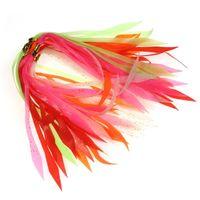 スピナーベイトのバズバイトのゴムジグの緑のイカのスカート赤オレンジ緑色のピンクホワイト201019のための50pcsの明るいシリコーンの流れ