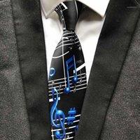 Вырека галстуки дизайнерские музыкальные обозначения галстука мода мужчины художник музыкант галстук для концертной музыкальной темы вечеринка1