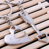"""عشاق الأزياء المفاتيح السهم """"أنا أحبك"""" القلب مفتاح سلسلة كيرينغ كيوبيد قلادة مفتاح سلسلة المفاتيح سلسلة المفاتيح سلسلة المحمول أفضل الهدايا 609 K2"""
