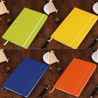 Caderno de capa dura A5 faculdade governou grosso clássico escrita caderno pu couro com fecho elástico de bolso bandado 21 J2