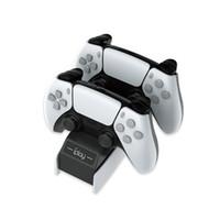 Charger rápido 5v2h1000-2600mA PS5 Jogo Controlador Sem Fio Dual Carregador Rápido P5 Charging Dock Branco Carregador USB preto