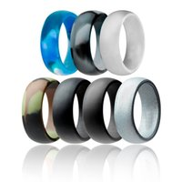 Silicone Casamento Anel Flexível Silicone O-Ring Casamento Confortável Fit Lightweigh Anel para Mens Multicolor confortável para homens 49 J2