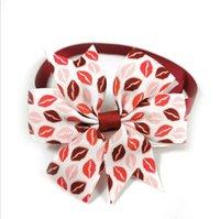 50PIC / SET PET Валентина день Святого Валентина галстука для галстука кошка и собака любят галстук бабочка регулируемые ошейники аксессуары Teddy Pomerang аксессуары цвета случайный