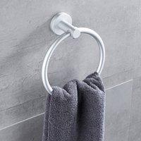 embed 벽 수건 반지 알루미늄 합금 원형 홀더 홈 욕실 액세서리 금형 수분 증명 솔리드 컬러 9MJ L2