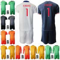 Portero de fútbol Kids Keylor Navas Jersey Set de la manga larga Portero Juvenil Sergio Rico Nicolas Douchez Alphonse Areola Football Shirt Kits B-L