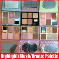 6 Styles Face Makeup Blush Highlight Bronze Pink Blusher Powder Palette 5 Colors Highlighter Palette with brush