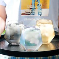 Vidro de vidro suco de vidro copo de leite criativo cristal diamante copo phnom penh penh uísque de uísque w-00483