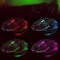MICE GAMING MOUSE USB LIGHT CRICK CRACK 6-BOTONES Colorido Colorido Portáaco Responsable Responsivo LED LIGHT1