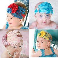 Peather Headband Baby Bordery Flower Kid Girl Hairband Rose Cabello Accesorios Moda Nuevo patrón Venta caliente 5 5my M2