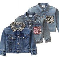 LZH bebé chicas jeans chaqueta 2021 abrigo de primavera de otoño para niños ropa para niños abrigo de ropa exterior para niños jeans chaqueta 2 3 4 años F1201