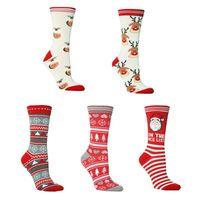 Children Christmas Socks in Tube Santa Elk Printed Sports Sleep Home Unisex Winter Warm Thick Cotton Sock 20cm