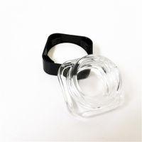 Recipientes de jarra de vidro à prova de criança para caixas Caixa de cera 3ml 5ml Capacidade de cera de cera Gel Dab Caixa de armazenamento de cera Caixa de batom