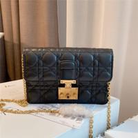 Moda Ombro Cross Luxury Designer Oblique Mulheres Bodas Bordado Bordado Linha Diamante Liso Vintage Vintage Bolsas De Couro Genuíno 2021