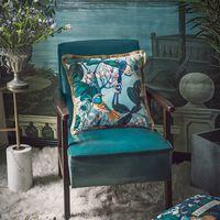 Dunxdeco cuscino copertura decorativa cuscino decorativo artistico antico foresta uccello flora lusso velluto nappa divano sedia biancheria da letto coussin T200624